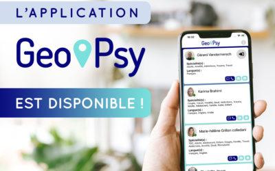 L'application Geo-Psy est disponible !
